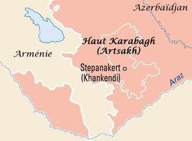 Situation géographique du Haut-Karabagh