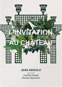 Affiche de l'invitation au Château, de Jean Anouilh