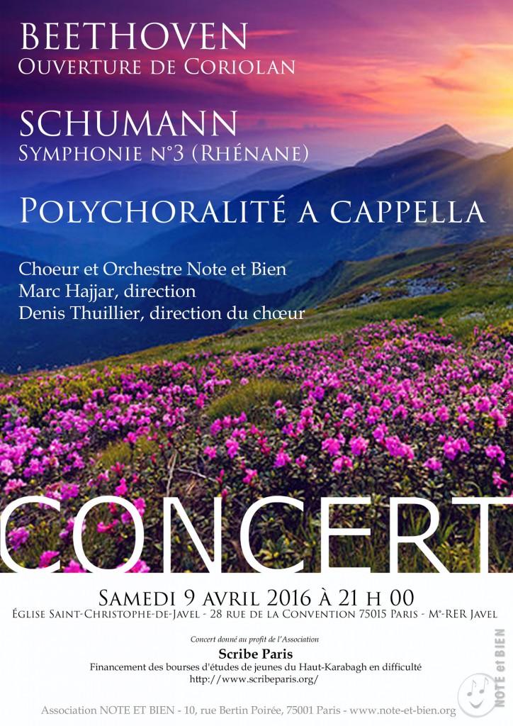 Concert de l'association Note et Bien au profit de SCRIBE-Paris