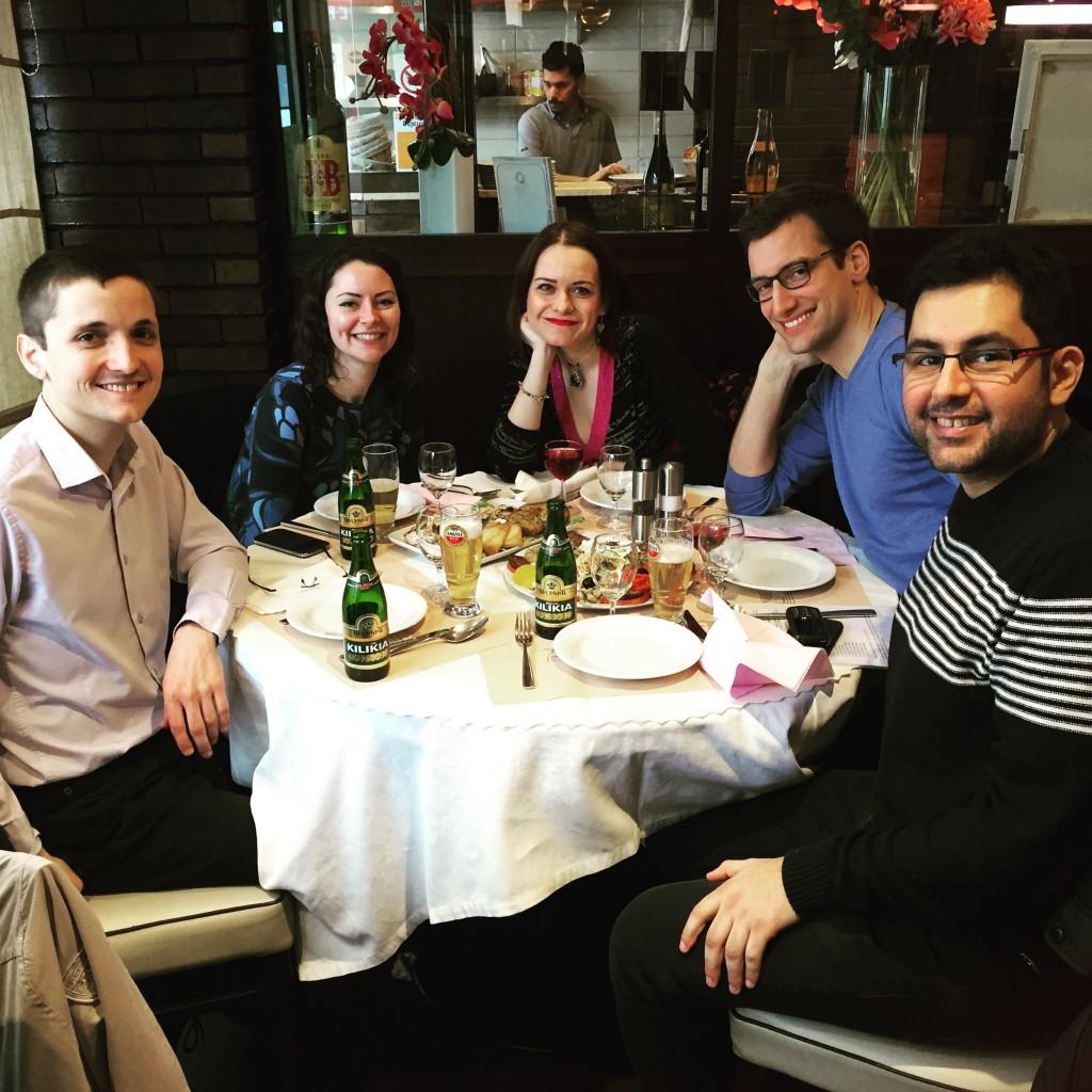 SCRIBE-Paris au restaurant La Rogina